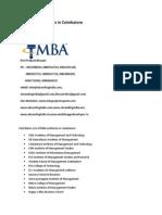 List of MBA Institutes in Coimbatore