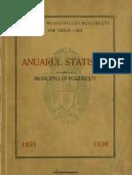 Anuarul statistic al oraşului Bucureşti pe anii 1931-1936, 1937