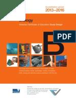 VCE Biology Study Design 2013 - 2016