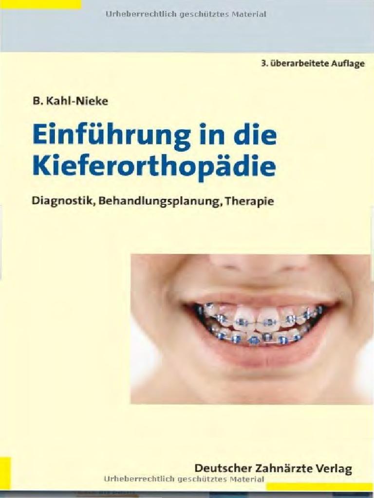 DZÄV] Kahl-Nieke, Einführung in Die Kieferortopädie; Diagnostik ...