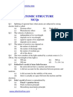 152203102 Chapter 5 Atomic Structure Mcqs
