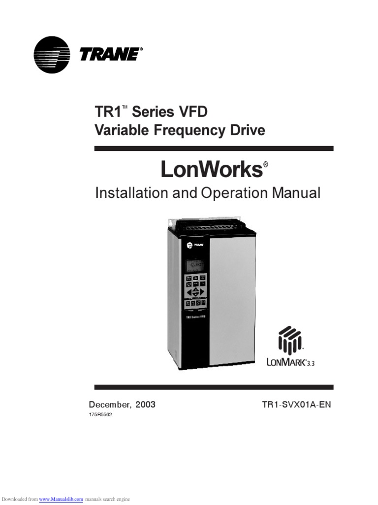 Lonworks Tr1 Series Vfd Electrical Connector Network Topology Trane Model Number Search