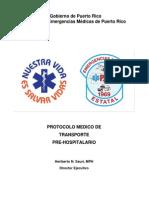 Protocolo Medico de Transporte Pre-hospitalario