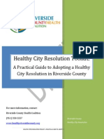 Healthy City Resolution TOOLKIT
