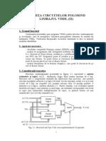 Laborator 5 - VHDL (Partea a II-A)