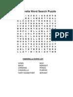 Cinderella Word List