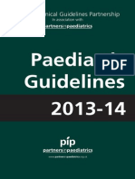 Paediatric Guidelines 2013-14 With Links