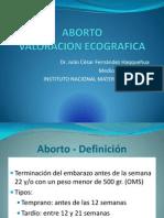 ABORTO Ecografia