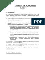 Tema 21. Procesos Con Pluralidad de Objetos