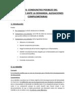 Tema 25. Conductas Posibles Del Demandado Ante La Demanda. Alegaciones Complementarias