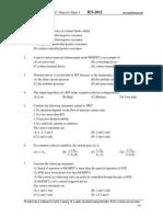 1 EC IES Objective Paper I 2012