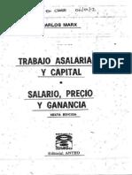 c) MARX - Trabajo Asalariado y Capital