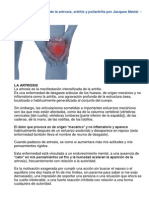 Causas Emocionales de La Artrosis, Artritis y Poliartritis Por Jacques Martel -Psicoterapeuta