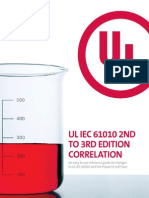 UL IEC 61010 2ndto3rdEdCorrelation