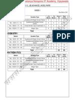 2013 Jee-Advanced Model Paper-1