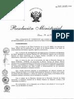 RM727 - Proyecto de Norma Almacenamiento de Alimentos Preenvasados 2013
