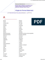 Dictionar Roman-Englez de Termeni Matematici