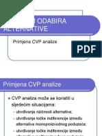5. Problem Odabira Alternative - Primjena CVP Analize