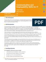 S06 Unit 1 Communication and Employability Skills for IT