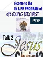 Talk 2 - Who is Jesus Christ