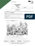 Science Worksheet 1