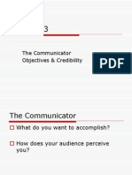 Ch 3 the Communicator(Objectives and Credibility)