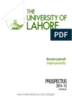 UOL Prospectus 2014 The University of Lahore