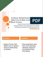 ClinicalSignificanceofAnalytesinNon hStandard