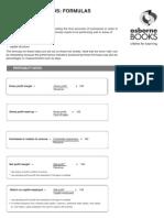 Accounting Ratios Formulas