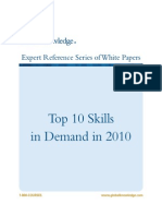 Top 10 Skills in Demand in 2010