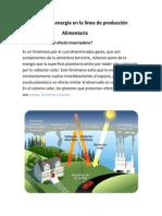 Tema XI La Energia en La Linea de Producción Alimentaria
