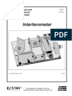 Introductory Michelson Interferometer Manual OS 8501