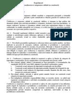 Regulament Pentru Conducerea Si Asigurarea Calitatii in Constructii