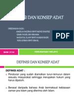 Definisi Dan Konsep Adat