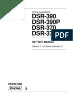Sony Dsr-370 Dsr-390 Vol-1 1st-Edition Sm