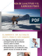 Fisiologia de La Altitud y El Ejercicio Fisiologia Expo
