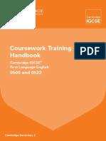 0500 0522 First Language English Coursework Training Handbook 2