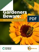 Gardeners Beware Report