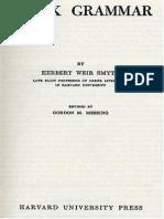Herbert Weir Smyth - Greek Grammar, Revised Edition - Harvard University Press