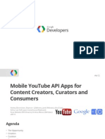 Mobile Youtube API Apps for Content Creators Curators and Consumers