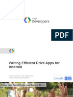 Writing Efficient Drive Apps for Android