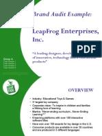 BrandManagement SampleAudit LeapFrog
