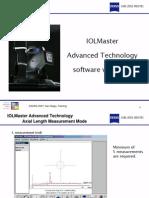 IOLMaster Advanced Technology software version 5