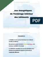 PPT_Enjeux Energétiques de l'Éclairage Intérieur Des Bâtiments, ESTIA SA 2009