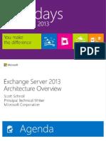 EXL393-Exchange 2013 Architecture_Schnoll (Rm221) (1)