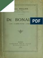 Henry Moulinié - De Bonald - La Vie-La Carriére Politique-La Doctrine