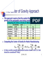 Centre of Gravity Model