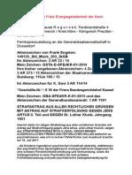 GSTA-DÜSSELDORF - STRAFANTRAG AUS ALLEN RECHTLICHEN GRÜNDEN MIT ANTRAG AUF STRAFVERFOLGUNG GEGEN JENS ARTUS II. Teil und GEGEN Dr. Lothar Klunk, Jahrgang 1951 - 06. Juni 2014 Kopie.pdf