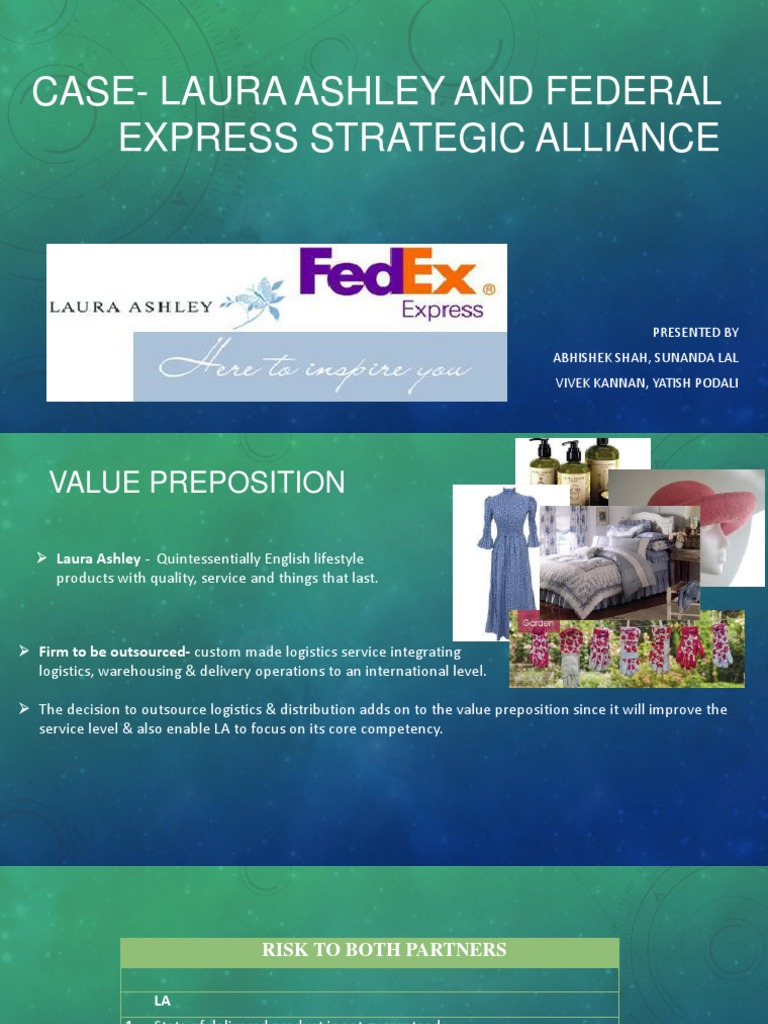 laura ashley and federal express strategic alliance case s