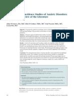 Anxiety Epidemiology